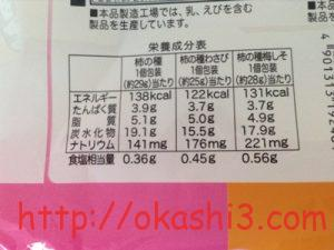 亀田製菓柿の種 栄養成分