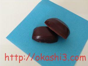 VAN HOUTEN CHOCOLATE Bitter(バンホーテンチョコレート ビター) 2層構造 断面