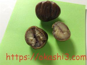 くらし良好(生活良好) 有機栽培栗使用 むき甘栗 中国産 断面