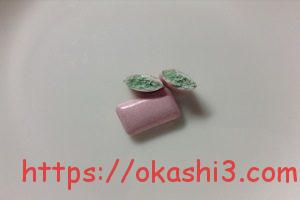 クロレッツXP ピンクグレープフルーツミント 断面 ガムベース 緑色