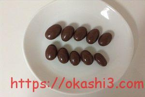 グリコ アーモンド効果チョコレート 粒数 大きさ