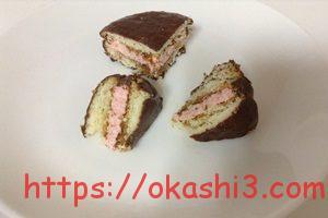 チョコパイ PABLO監修 プレミアムチーズケーキ ダブルベリー仕立て 断面 口コミ 感想 レビュー