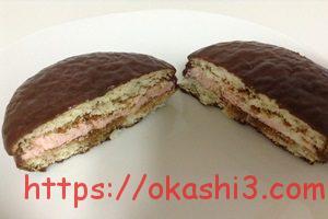 チョコパイ PABLO監修 プレミアムチーズケーキ ダブルベリー仕立て 断面