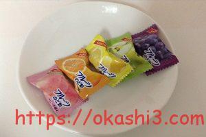 カバヤ フルーツのど飴 カロリー ピーチ オレンジ レモン 青りんご グレープ