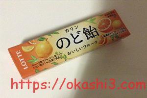 ロッテ フルーツのど飴 パッケージ 値段 カロリー