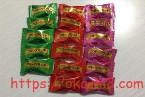 カンロフルーツリッチキャンディの味の種類と個数